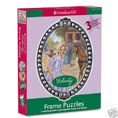 AMERICAN GIRL FELICITY FRAME PUZZLES NEW IN BOX  RETIRED ELIZABETH