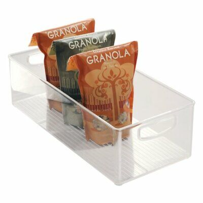 iDesign Stackable Storage Box with Handles, Extra Large (Large and Deep)