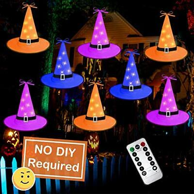 8PCS Halloween Witch Hat String LED Lights Decorations Outdoor&indoor Yard Tree