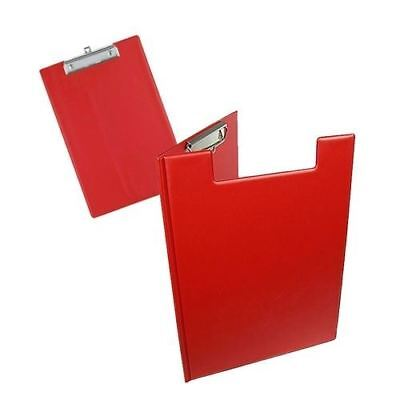 Fold Over Clip Board A4 Size Red Foldover Clipboards & Pen Holder