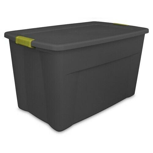 Sterilite® 35 Gallon Gray Latch Tote with Fern Handles32-