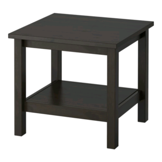 Side table, black-brown,55x55 cm
