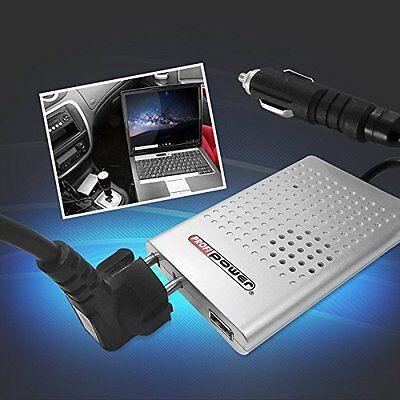 12V / 230V Spannungswandler 80-100 W, USB 2.0, platzsparend ProfiPower