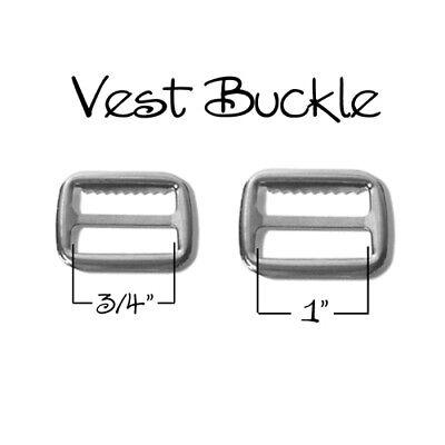 """3/4"""" or 1"""" Vest Buckle / Adjustable Suspender Slide Adjuster"""