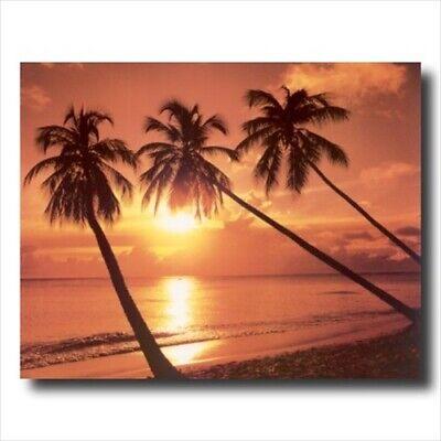 Hawaiian Ocean Palm Tree Beach Wall Picture Art Print (Palm Picture)
