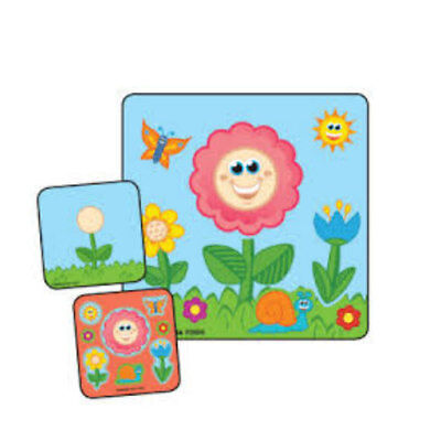 15 Flower Make Your Own STICKERS Party Favors Birthday Treat Loot Bags Spring - Flowers Loot Bag