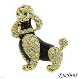 "BRAND NEW RUCINNI "" FANCY POODLE "" PIN"