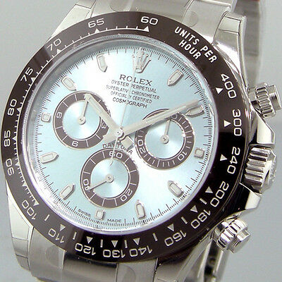 ROLEX DAYTONA 116506 PLATINUM ICE BLUE BROWN CERAMIC BEZEL CHRONOGRAPH