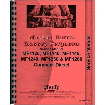 Massey Ferguson 1125 1140 1240 1250 1260 Tractor Service Manual Mh-s-mf1240