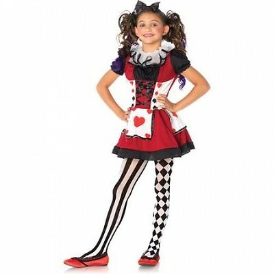 Playing Card Cutie Wonderland Costume Halloween Child Girls Size M (8-10)](Children's Wonderland Halloween)