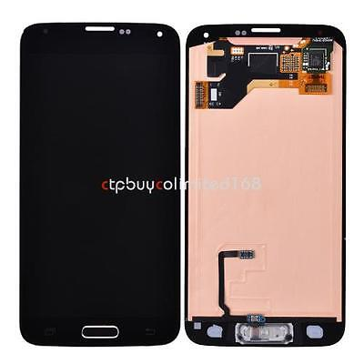 Black Home Flex LCD Screen Touch Digitizer Assembly For Samsung Galaxy S5 i9600 on Rummage