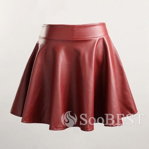 leather ruffle skirt ebay