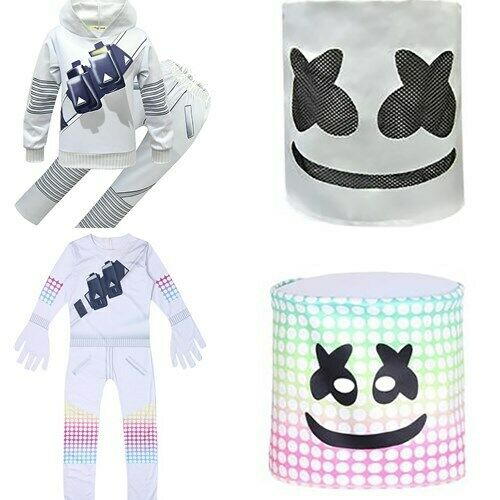 Halloween Costume Kids Boys Cosplay Fancy Dress MarshMello M