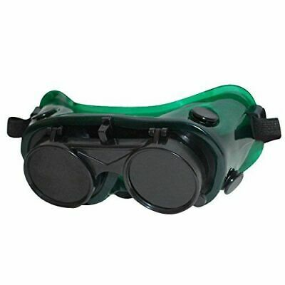 New Welding Cutting Goggles Flip Up Grinding Safety Glasses Dark Green Lense
