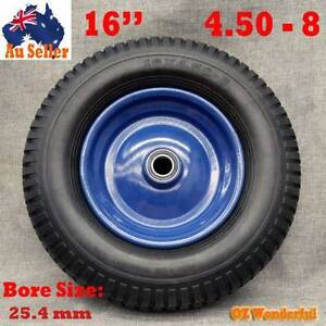 "16"" inch Solid Tyre Wheel bore size 25.4mm Wheelbarrow Flat Free Epping Whittlesea Area Preview"