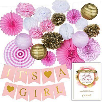 Premium Baby Dusche Dekorationen für Mädchen Garnitur & It´S A Mädchen