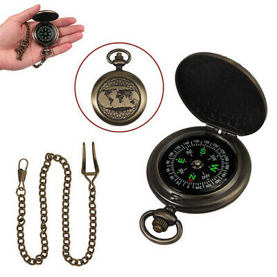 Fluorescent Glow Survival Gear Compass Tools for Camping Hiking Riding Retro NEW