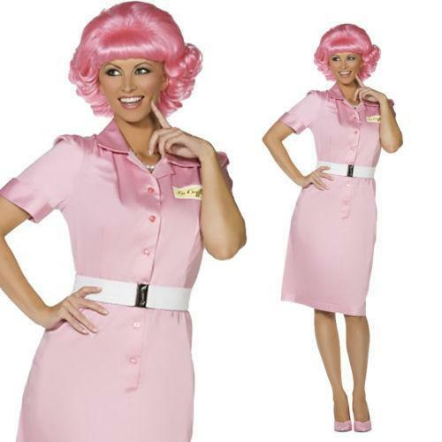 frenchie grease fancy dress ebay. Black Bedroom Furniture Sets. Home Design Ideas