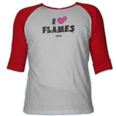 Calgary Flames CCM Heart Women's 3/4 Sleeve Hockey -