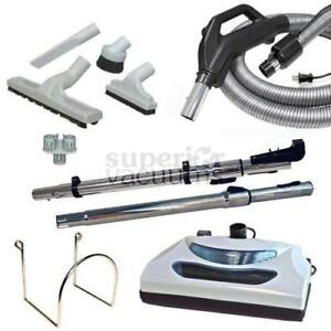 Central Vacuums Kit, Butlers Econo Power Nozzle & 30 Ft Hose Grey $$$$ SAVE $100!