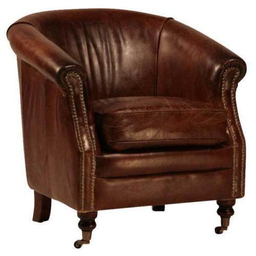 distressed leather club chair distressed leather club chair ebay 6786