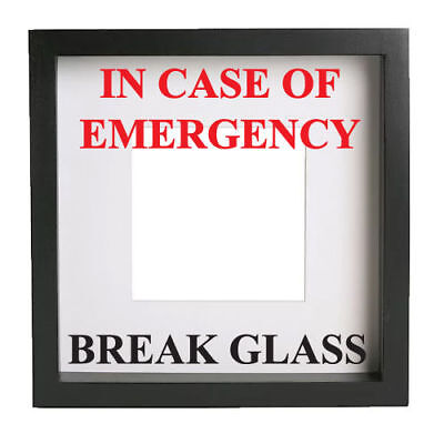 IN CASE OF EMERGENCY BREAK GLASS VINYL STICKER IKEA RIBBA MAKE YOUR OWN FRAME