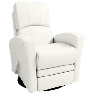 Kidiway 00981-01 Varadero Leather Accent Chair - White  (open Box)