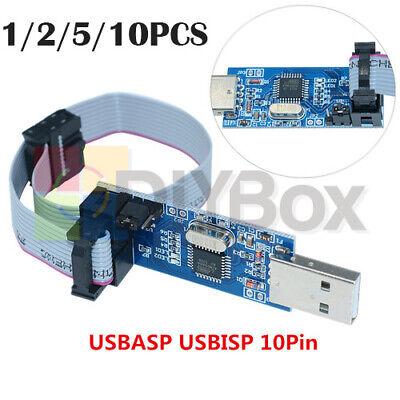 1-10pcs Atmega8 Usb Avr Usbasp Usbisp Tablecloth Cable Avr Programmer Adapter