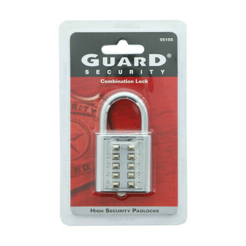 Guard Security Combintion Push Button Lock with 5 Digit Locking Mechanism, 55155