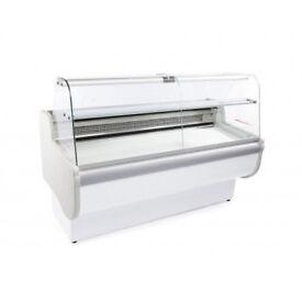 Tobi300 Curved Glass Serve over Counter Display Fridge Salad Bar