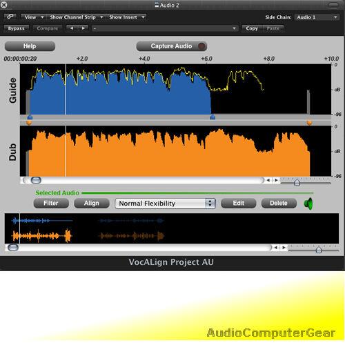 Synchro Arts VOCALIGN PROJECT 3 Auto Align Audio Tracks Software Plug-in NEW