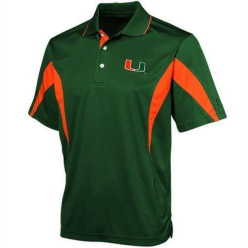 Miami hurricanes polo casual shirts ebay for Ohio state golf shirt