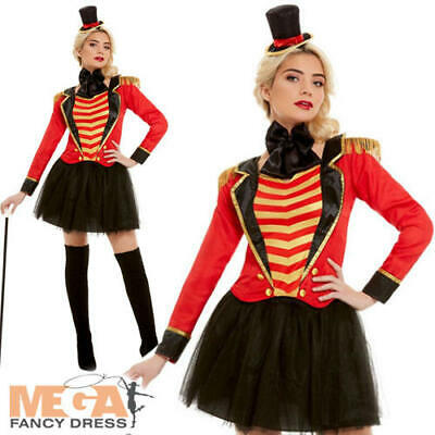 Deluxe Ringmaster Ladies Fancy Dress Circus Lion Tamer Showman Adults Costume