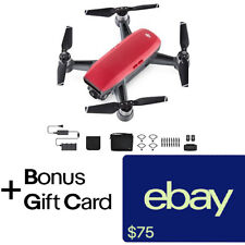 DJI Spark Fly More Combo - Lava Red Quadcopter Drone + $75 eBay Gift Card!