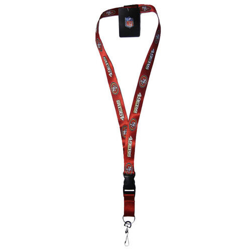 49ers-Red-Officially-Licensed-NFL-Keychain-ID-Holder-Detachable-Lanyard-New