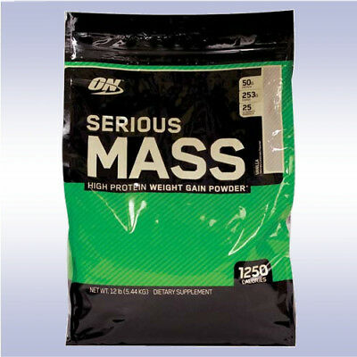 OPTIMUM NUTRITION SERIOUS MASS (12 LB) gainer creatine protein gold standard on