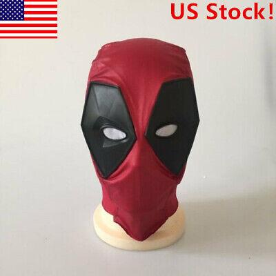 Deadpool Halloween Mask (US! Deadpool Mask Imitation Leather Balaclava X-Men Halloween Hood Full)