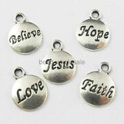 Faith Hope Love Charms