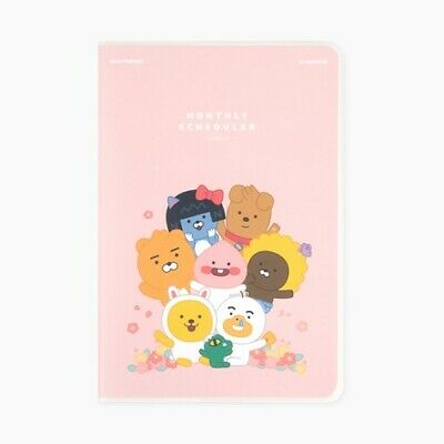 Kakao Little Friends Monthly Planner Organizer Pink Diary Ryan Tube Apeach Muzi