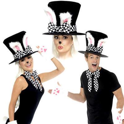 White Rabbit March Hare Set Fancy Dress Wonderland Tea Party Costume Accessories](Wonderland Accessories)