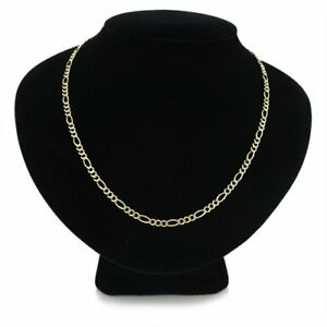 14k Figaro Link Gold Chain - 350