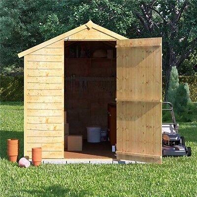 Wooden Shed Bike Tool Garden Apex Overlap 4x6 Feet INCLUDES FLOOR/ROOFING FELT