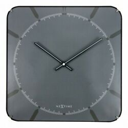 Boyle NeXtime Stylish Wall Indoor Clock Michael Square Dome - Grey