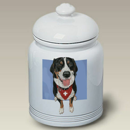 Greater Swiss Mountain Dog Ceramic Treat Jar PS 52144