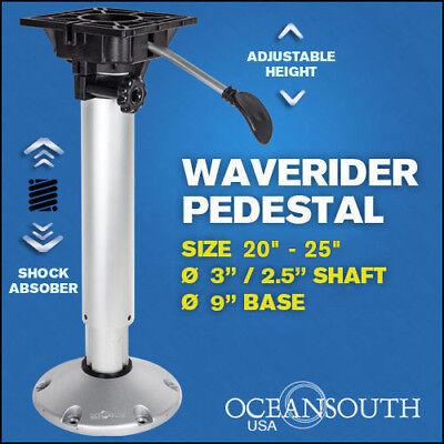 Shock Absorbing Adjustable Waverider Boat Seat Pedestal 20'' – 25''
