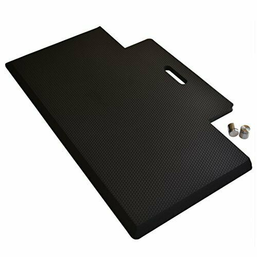"Anti-Fatigue Memory Foam Standing Desk Mat with Handy Hanger and Handle, 29x18"""