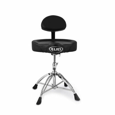 Mapex Double Braced Throne with Height Adjustment and Back Rest Saddle Seat Double Braced Saddle