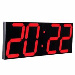 Jumbo Digital Led Wall Clock Multifunction Large Calendar Alarm Thermometer