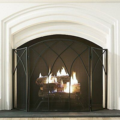 Pleasant Hearth Gothic Fireplace Screen, New, Free Shipping