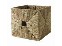 Ikea Knipsa Seagrass Strorage Boxes - ideal for Expedit and Kallax range (six baskets)